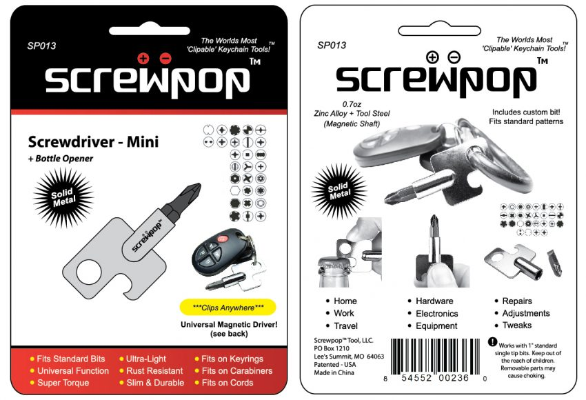 Screwpop - Screwdriver MINI (SP013) outlines